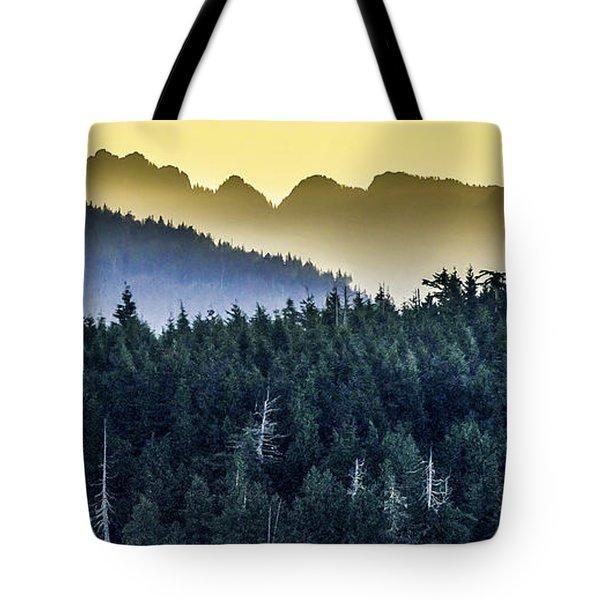 Morning Mountains Tote Bag