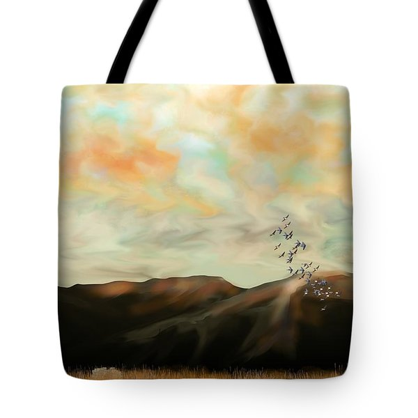 Morning New Mexico II Tote Bag by Kerry Beverly