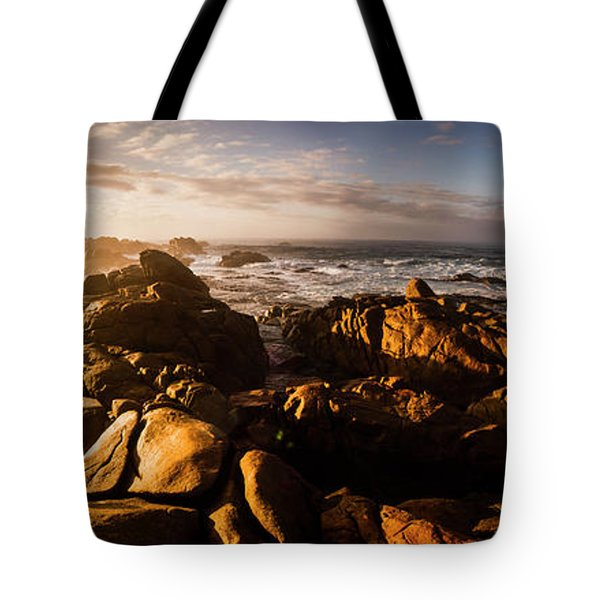 Tote Bag featuring the photograph Morning Ocean Panorama by Jorgo Photography - Wall Art Gallery