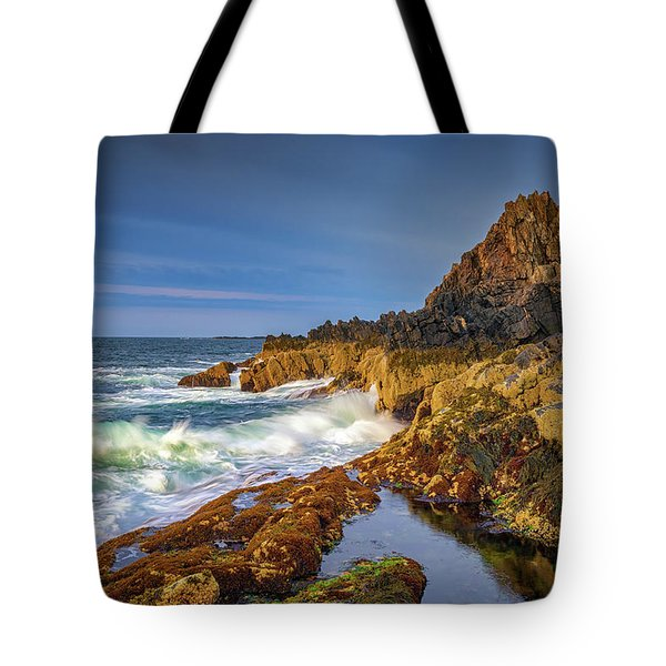 Morning On Bailey Island Tote Bag
