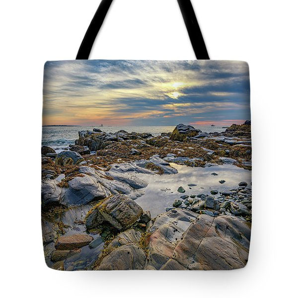 Morning On Casco Bay Tote Bag