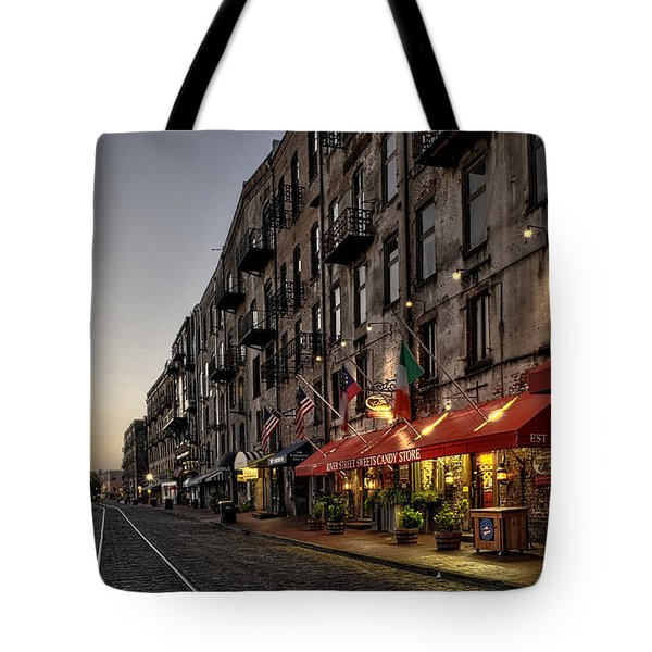 Morning On River Street Tote Bag