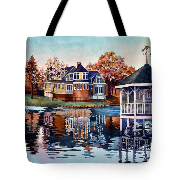 Morning On Silver Lake Tote Bag