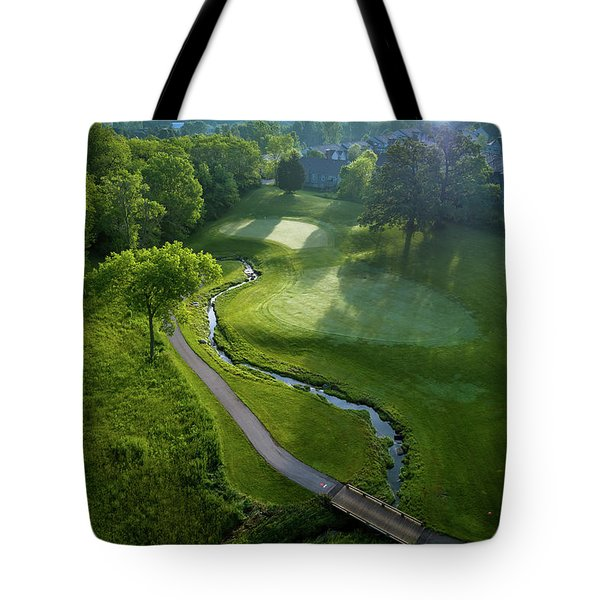 Morning On The 9th Tote Bag
