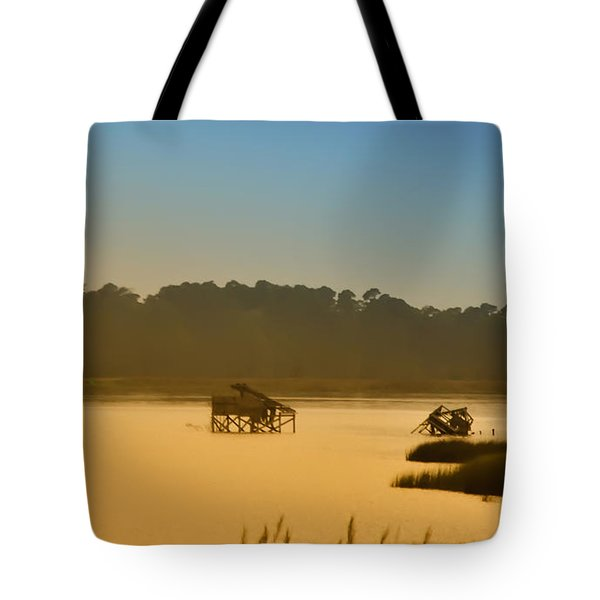 Morning On The Bay Tote Bag by Bill Cannon