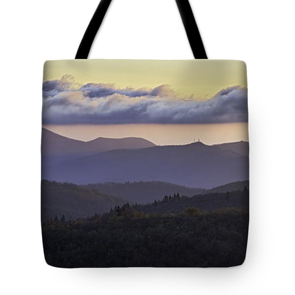 Morning On The Blue Ridge Parkway Tote Bag by Rob Travis