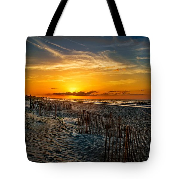 Morning On The Bogue Banks Tote Bag