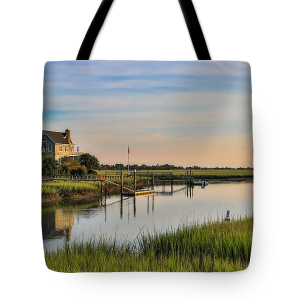 Morning On The Creek - Wild Dunes Tote Bag