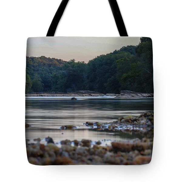 Tote Bag featuring the digital art Morning On The Hooch by Kathleen Illes