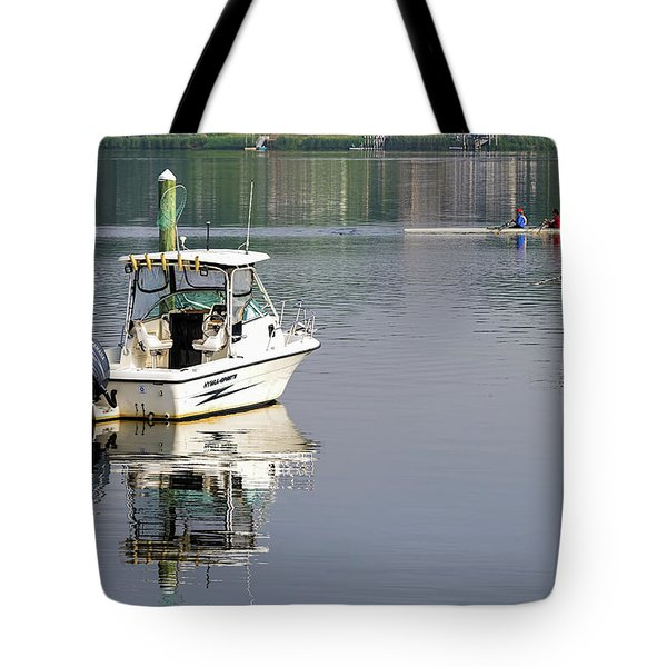 Tote Bag featuring the photograph Morning On The Navesink River 2 by Gary Slawsky