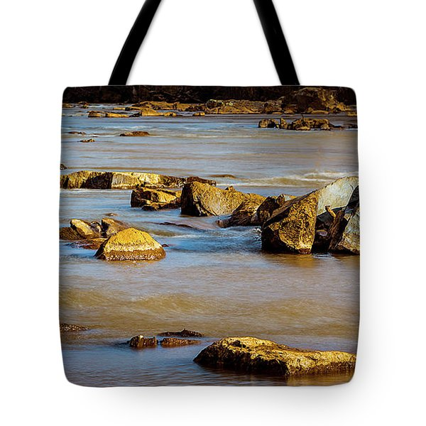 Morning On The Rocky River Tote Bag