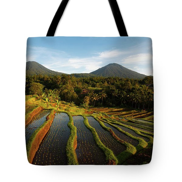 Morning On The Terrace Tote Bag