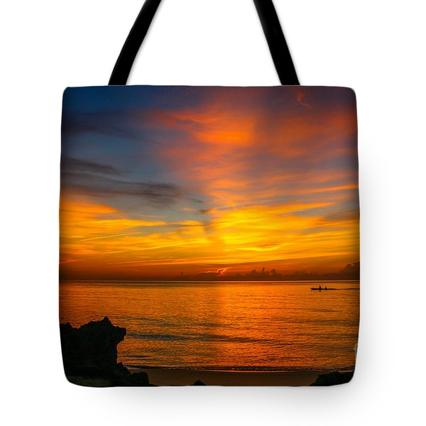 Morning On The Water Tote Bag