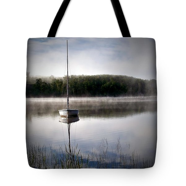 Morning On White Sand Lake Tote Bag by Lauren Radke