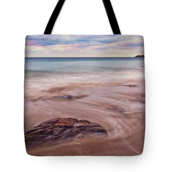 Morning Pastels Singing Beach Ma Tote Bag