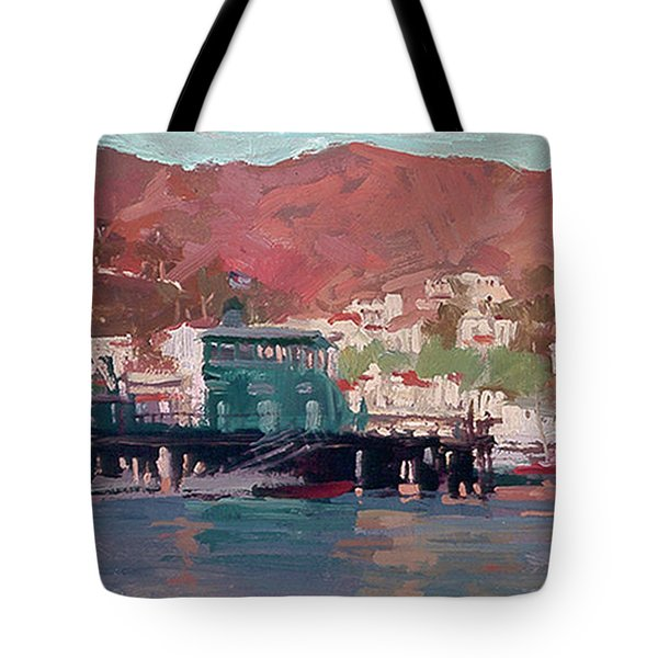Morning Pleasures - Catalina Harbor Tote Bag