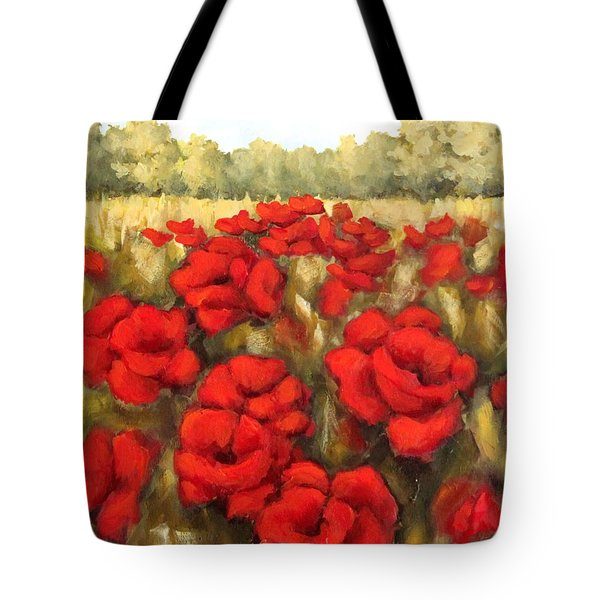 Morning Poppies Tote Bag by Inese Poga