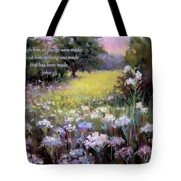 Morning Praises With Bible Verse Tote Bag