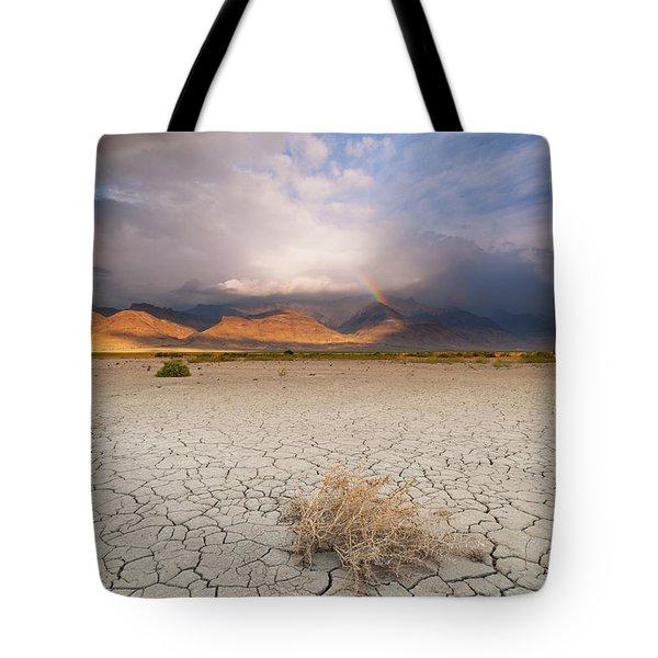 Morning Rainbow Tote Bag