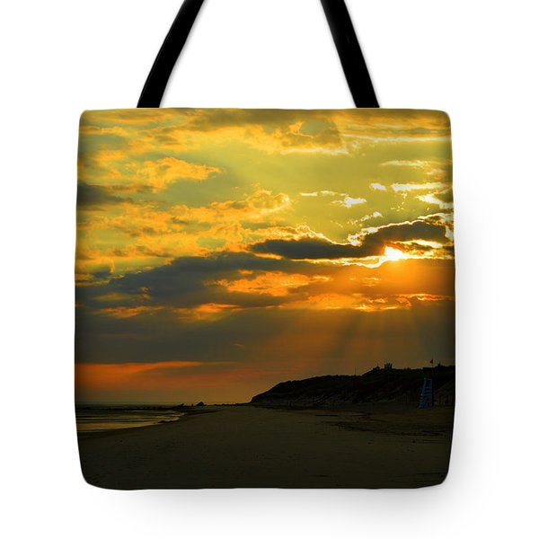 Morning Rays Over Cape Cod Tote Bag