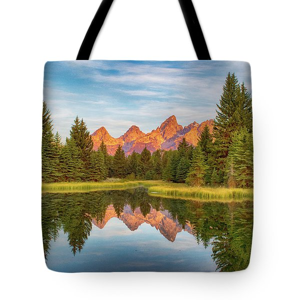 Tote Bag featuring the photograph Morning Reflections by Mary Hone
