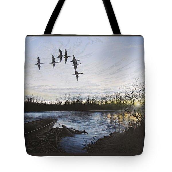 Morning Retreat - Pintails Tote Bag
