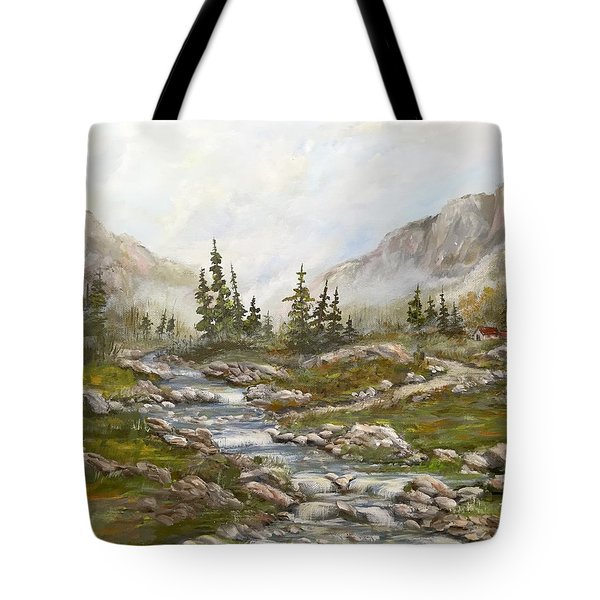 Morning Rising Fog Tote Bag
