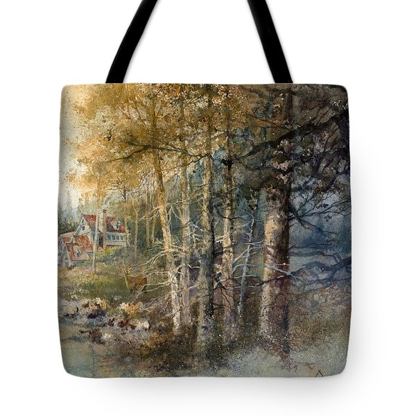 Morning River Tote Bag by Andrew King
