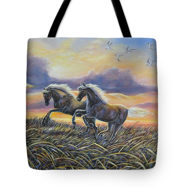 Morning Run Tote Bag