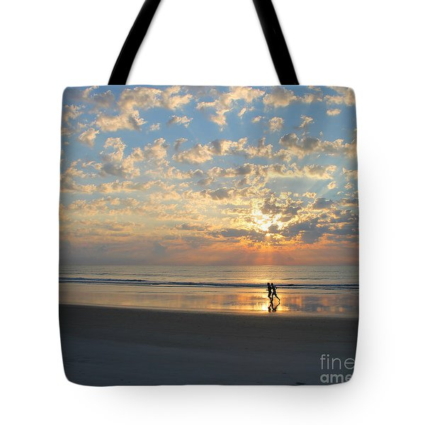 Tote Bag featuring the photograph Morning Run by LeeAnn Kendall