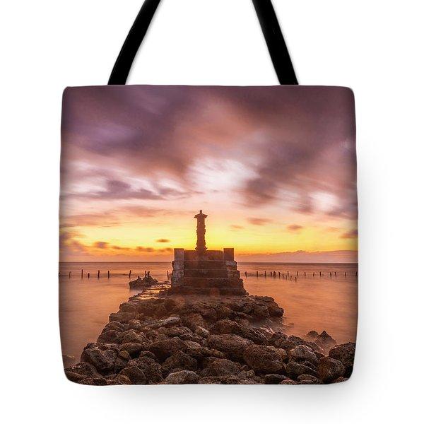 Tote Bag featuring the photograph Morning Scene In Nusa Penida Beach by Pradeep Raja Prints