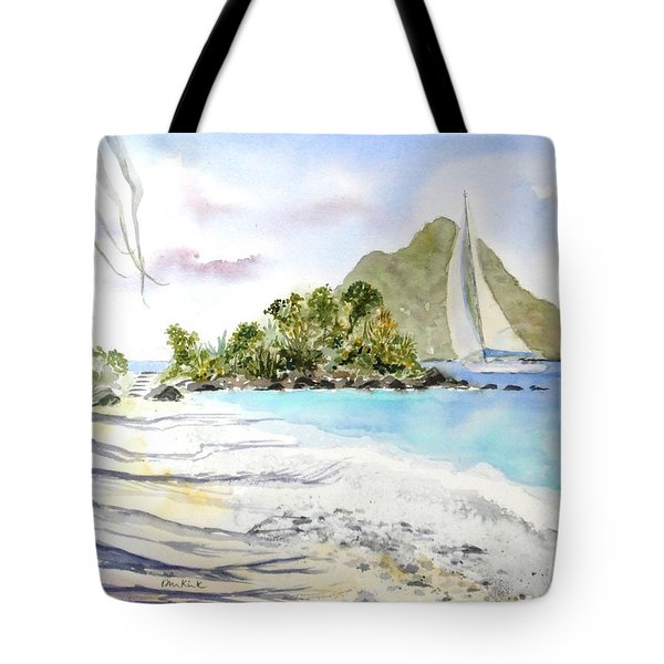 Morning Shadows, Little Thatch Tote Bag