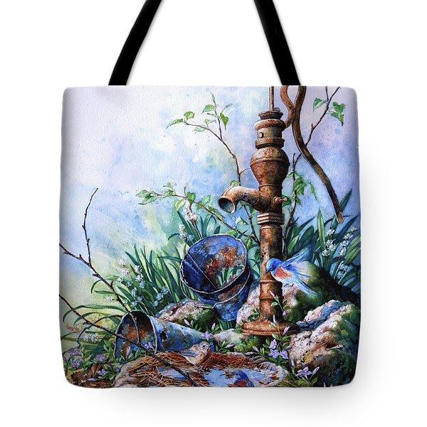 Morning Shower Tote Bag by Hanne Lore Koehler