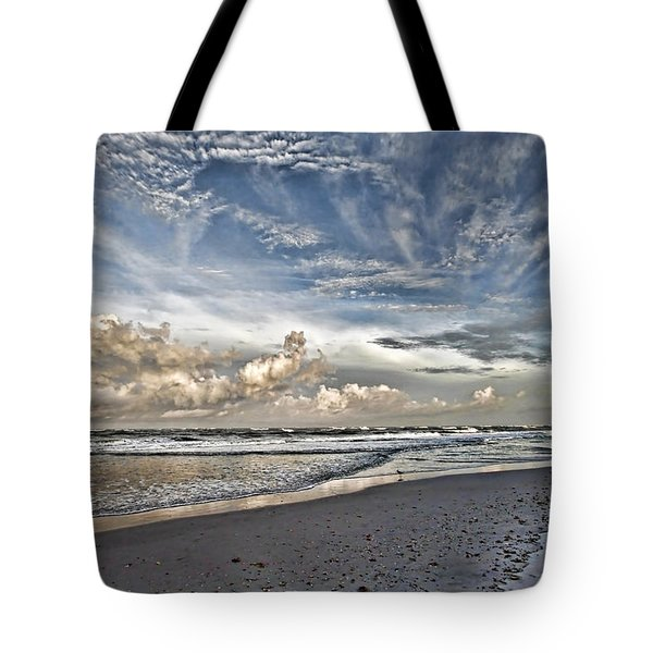 Morning Sky At The Beach Tote Bag