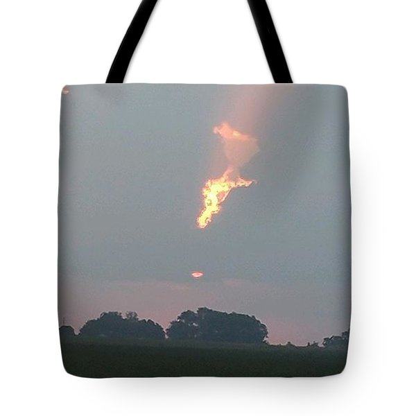 Morning Sky On Fire Tote Bag