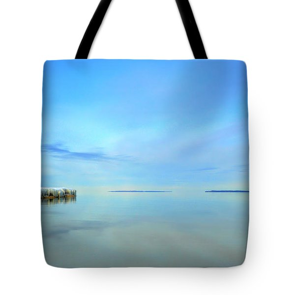 Morning Sky Reflections Tote Bag