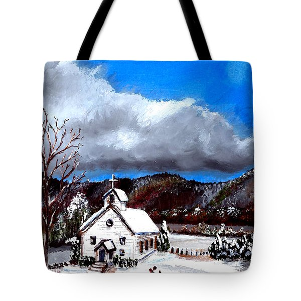 Morning Snow Ministry Tote Bag