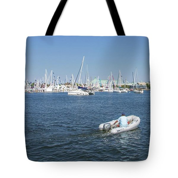 Tote Bag featuring the photograph Solitude On The Creek by Charles Kraus