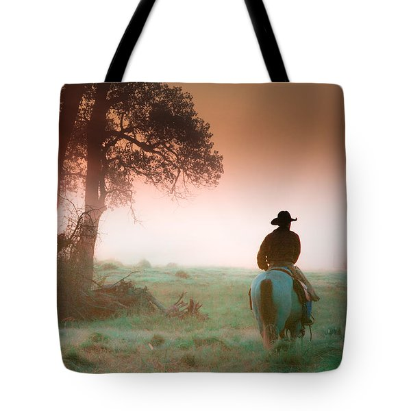 Morning Solitude Tote Bag by Toni Hopper