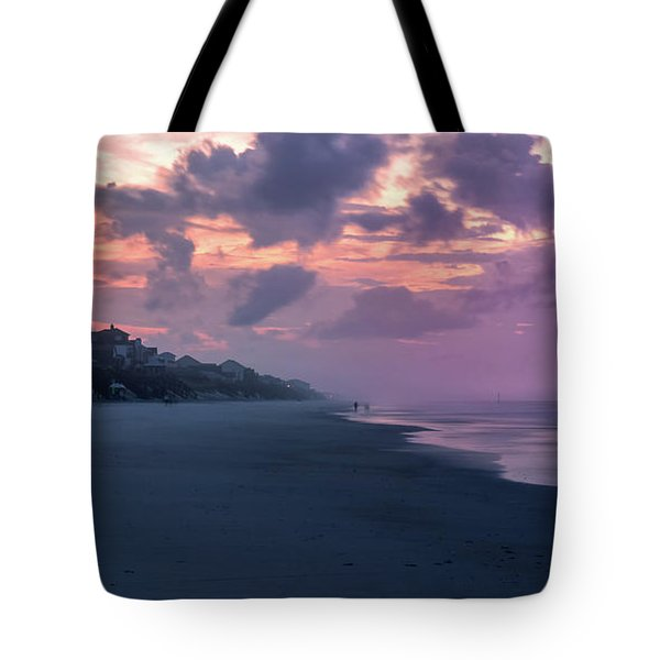 Morning Stroll On The Beach Tote Bag