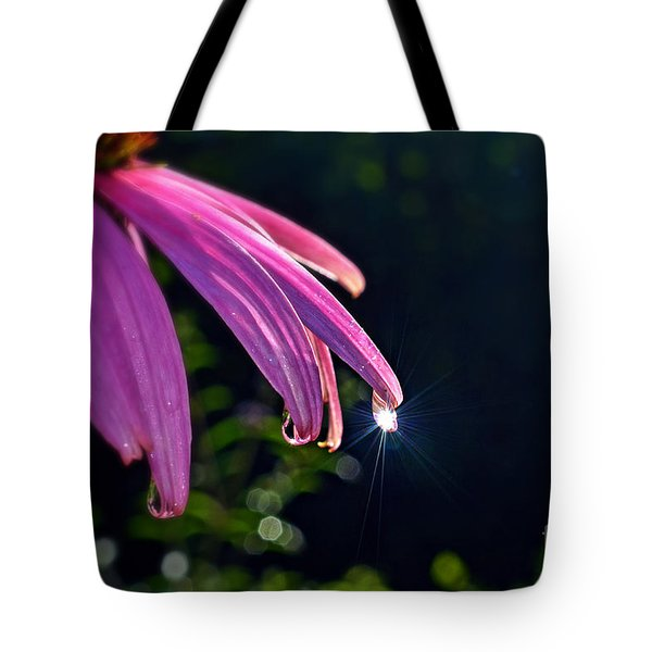 Morning Sun In A Dewdrop Tote Bag