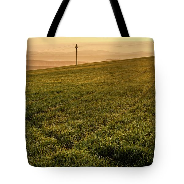 Tote Bag featuring the photograph Morning Sun. Moravian Tuscany by Jenny Rainbow