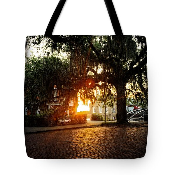 Morning Sun On The Bricks Of Savannah Tote Bag
