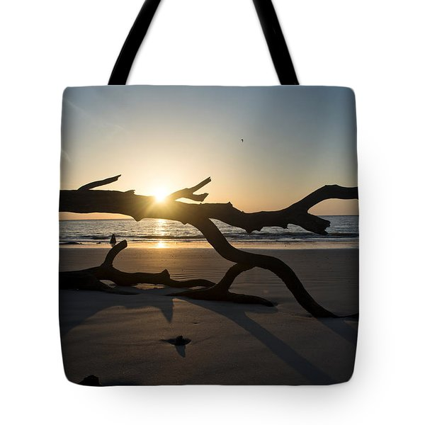 Morning Sun Over Driftwood Tote Bag