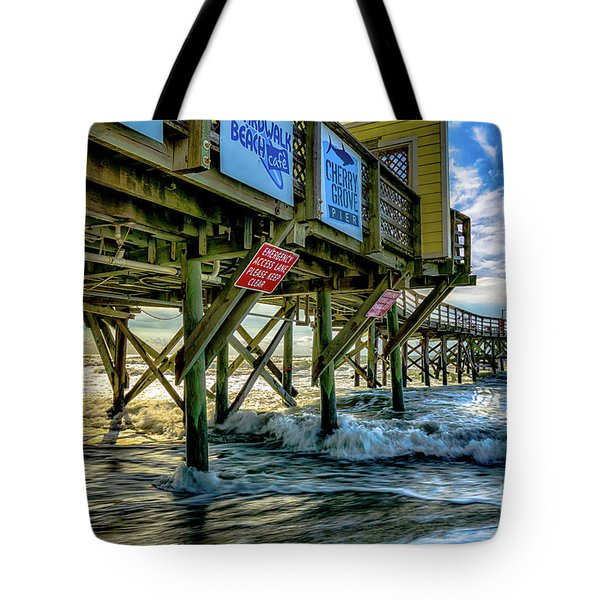 Morning Sun Under The Pier Tote Bag