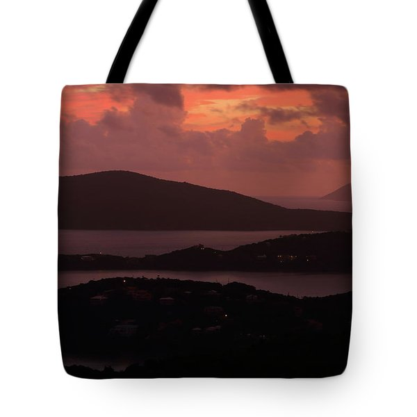 Tote Bag featuring the photograph Morning Sunrise From St. Thomas In The U.s. Virgin Islands by Jetson Nguyen