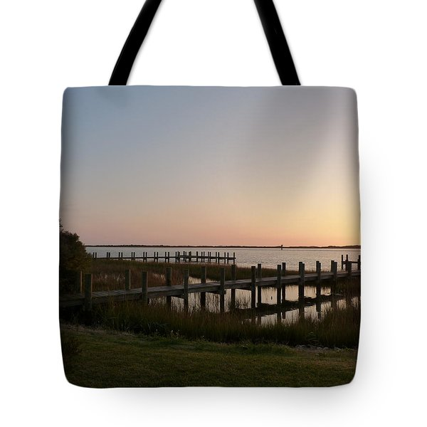 Morning Sunrise Over Assateaque Island Tote Bag by Donald C Morgan