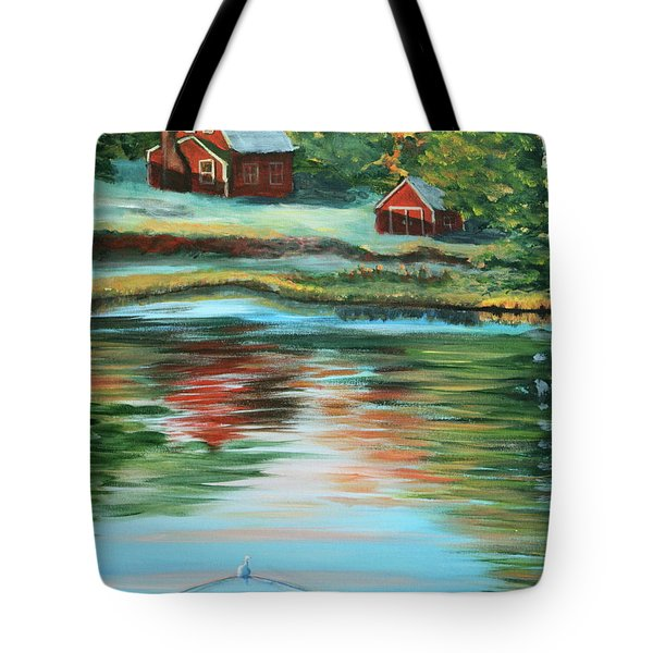 Morning Swim Tote Bag by Lorraine Vatcher