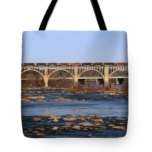 Morning Train Tote Bag by Kelvin Booker