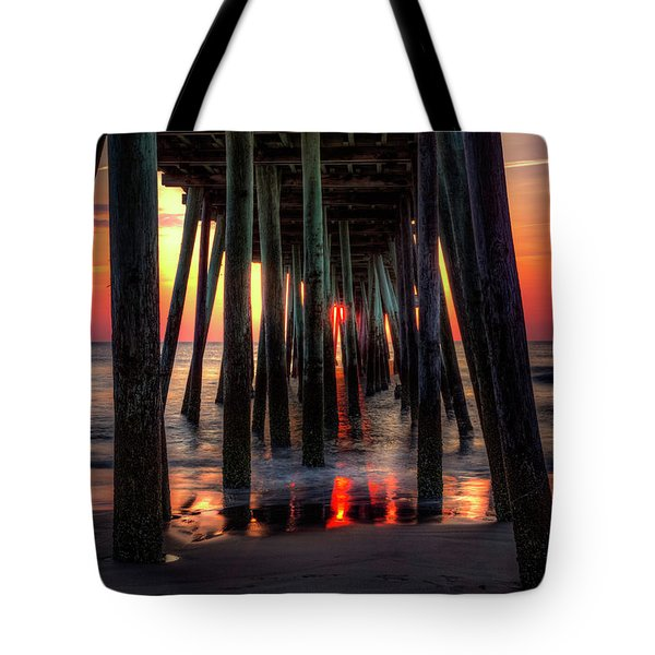 Morning Under The Pier Tote Bag
